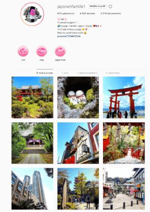 instagram japon en famille