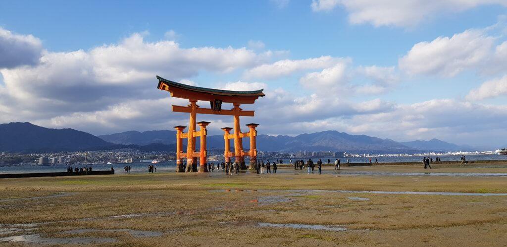 Torii à Miyajima marée basse