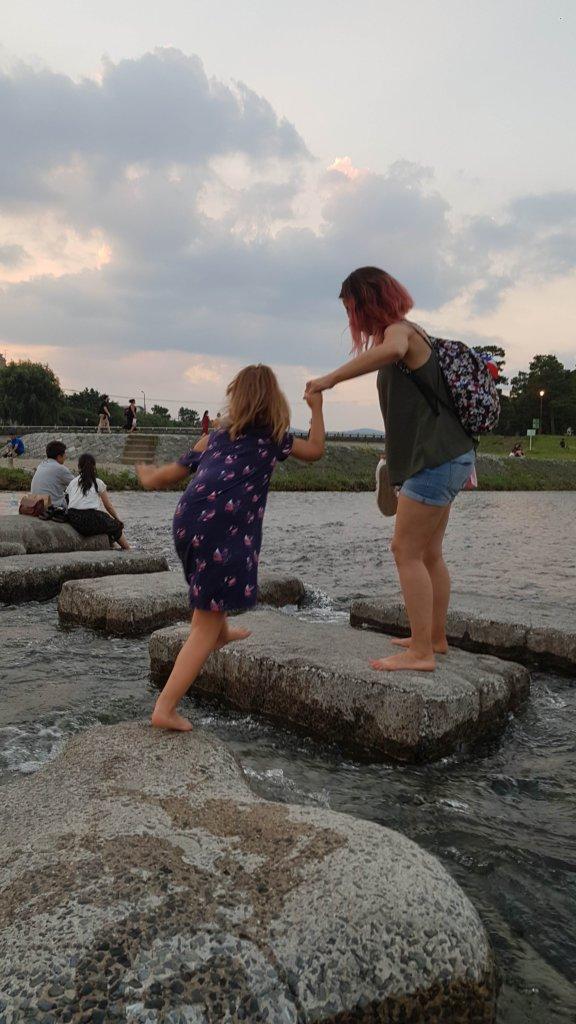 kamo-gawa l'été