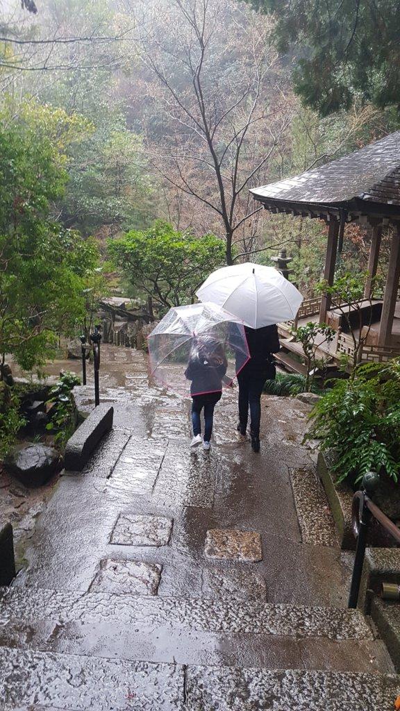 mitaki dera sous la pluie