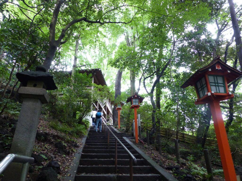 escalier temple fudo