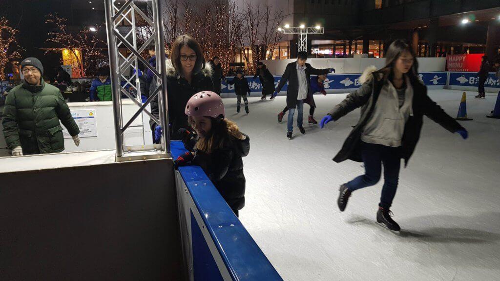 Patin à glace à Tokyo Skytree