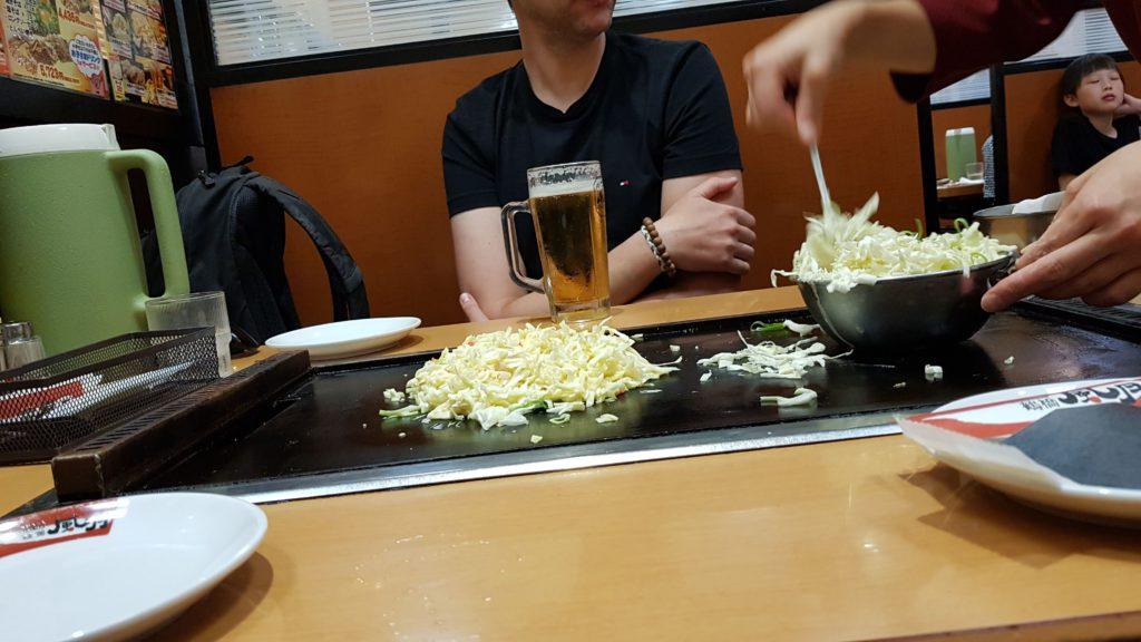 okonomiyaki à Osaka